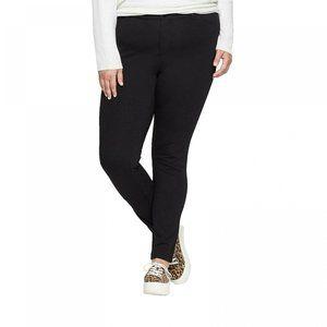 NWT Ava & Viv Pockets Ponte Skinny Pants 22W Black